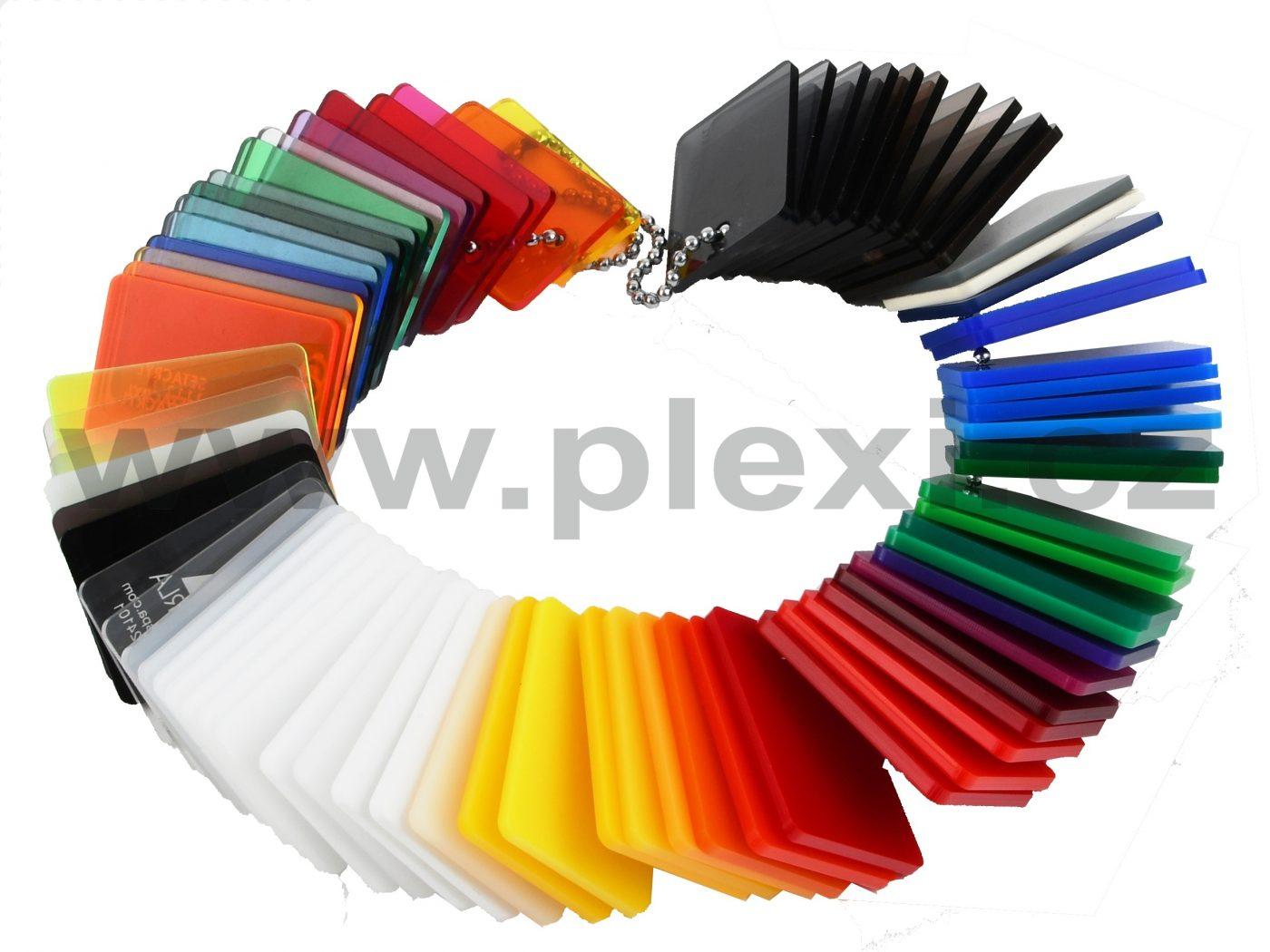 Barevné plexi Setacryl, vzorky barev plexiskla
